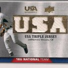 JOMARCOS WOODS 2009 UPPER DECK USA BASEBALL TRIPLE JERSEY