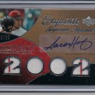 AARON HARANG REDS 2007 UD EXQUISITE ROOKIE SIGNATURE JERSEY