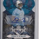 DERRICK MORGAN TITANS 2010 CROWN ROYALE RC AUTO #'D 45/50!