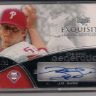 J.D. DURBIN PHILLIES 2007 EXQUISITE AUTO #'D 10/20!