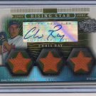 CHRIS RAY ORIOLES 2007 TRIPLE THREADS AUTO/JERSEY #'D 58/75!