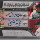 GASSNER/BONSER TWINS 2006 EXQUISITE DUAL RC AUTO #'D 25/55!