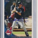 CASEY FRAWLEY INDIANS 2010 TOPPS PRO DEBUT AUTO CARD