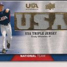 CODY WHEELER 2009 UPPER DECK USA BASEBALL TRIPLE JERSEY