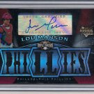 LOU MARSON 2009 TRIPLE THREADS RC JERSEY/AUTO #'D 24/99!