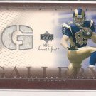ERIC CROUCH RAMS 2002 UD SWEET SPOT GALLERY RC JERSEY