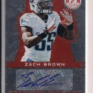 ZACH BROWN TITANS 2012 CERTIFIED FRESHMAN PHENOMS AUTO