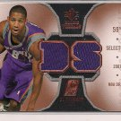 D.J. STRAWBERRY SUNS 2007 SPX DUAL ROOKIE THREADS