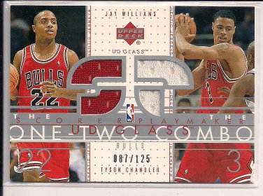 WILLIAMS/CHANDLER BULLS 2003 UD GLASS COMBO JERSEY