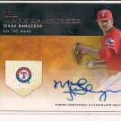 MARK HAMBURGER RANGERS 2012 GOLDEN MOMENTS AUTO