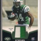 STEPHEN HILL JETS 2012 TOPPS TWO COLOR PATCH ROOKIE CARD