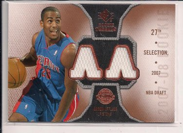 ARRON AFFLALO PISTONS 2007-08 SP ROOKIE THREADS DUAL JERSEY