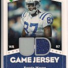 REGGIE WAYNE COLTS 2007 UPPER DECK GAME JERSEY