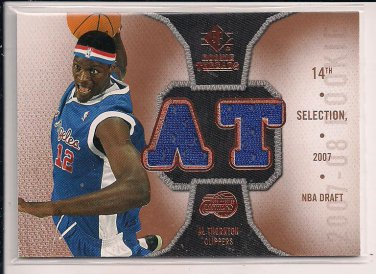 AL THORNTON CLIPPERS 2007-08 SP ROOKIE THREADS DUAL JERSEY