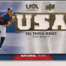 CHAD BETTIS 2009 UD USA TRIPLE JERSEY CARD