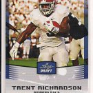 TRENT RICHARDSON BROWNS 2012 LEAF DRAFT RC BLUE BORDER