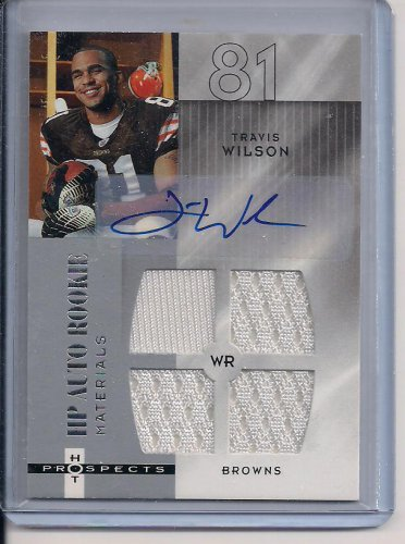 TRAVIS WILSON BROWNS 2006 FLEER HP ALTO ROOKIE AUTO/QUAD JSY