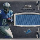 RYAN BROYLES LIONS 2012 BOWMAN STERLING ROOKIE JERSEY