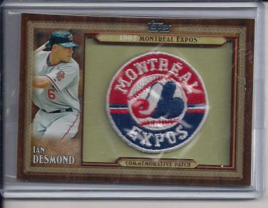 IAN DESMOND EXPOS 2011 TOPPS THROWBACK COMMEMORATIVE PATCH