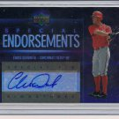 CHRIS DENORFIA REDS 2006 UD SPECIAL ENDORSEMENTS AUTO
