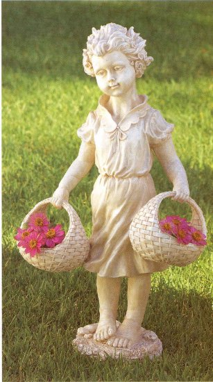 Child with multiuse baskets