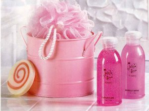 Pink Bath Bucket Set