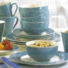Blue Trimmed Dinnerware Set