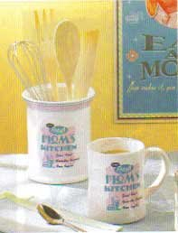 Retro Kitchen Utensil Holder Set. NEW ITEM!