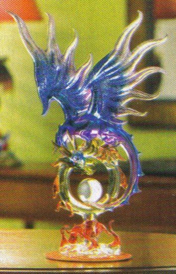 Glass Dragon With Orb NEW ITEM!