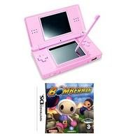 Nintendo DS Lite (Coral Pink) Bundle with Bomberman for DS