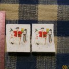 Mosaic Tiles *~XMAS SNOWMEN~* 2 HM Kiln Fired Focal