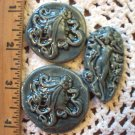 Denim Blue *~GRAPE GODDESSES~* 3 Pendant - Mosaic Tiles