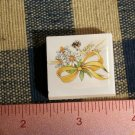 Mosaic Tiles *~YELLOW XMAS BOW*~1 HM Kiln Fired