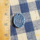 *TWILIGHT BLUE PAISLEY PENDANT*~HM Ceramic Beads/Charms