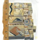 Unique ~~EARTHTONE CrAzIeS~~  23 Lg. HM  Mosaic Tiles