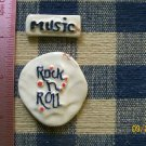 Mosaic Tiles ~*ROCK N ROLL MUSIC*~ 2 HM Clay Kiln Fired