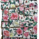 ~PINK & WHITE ROSES in  Chintz~ 50+ Mosaic Tiles