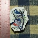 Mosaic Tiles*~BLUE BIRDS * 1 Rnd HM Kiln Fired