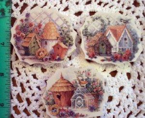 Beautiful~~SET OF BIRDHOUSES ~~3 HM  Mosaic Tiles