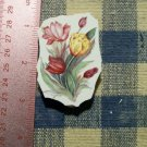 Mosaic Tiles*~TULIP BOUQUET * 1 Rnd HM Kiln Fired
