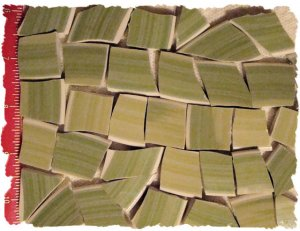 *~SAGE FILLERS~* 40 LG. HC China Mosaic Tiles