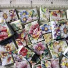Mosaic Tiles ~SUMMERTIME CHINTZ~ 50+ Kiln Fired Tiles