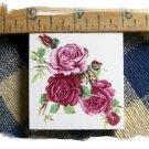 Mosaic Tiles *~WINE ROSE BOUQUET*~1 LG. HM Focal