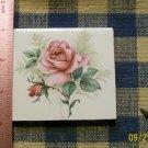 Mosaic Tiles *~ELEGANT PINK ROSE*~1 LG. HM Focal
