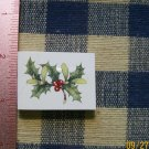 Mosaic Tiles *~CHRISTMAS PLANT~1 HM Kiln Fired Focal