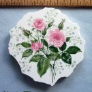 Mosaic Tiles *~PINK ROSE CIRCLE*~1 LG. HM Kiln Fired