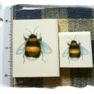 Mosaic Tiles *~ADORABLE BUMBLE BEES*~ 2 HM Kiln Fired