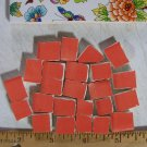 Handpainted *~SUNRISE RED FILLERS ~*50+ Mosaic Tiles