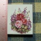 Mosaic Tiles*~ELEGANT ROSE BOUQUET* 1 Sq HM Kiln Fired