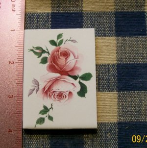 Mosaic Tiles *~DOUBLE PINK ROSE*~1 LG. HM Focal